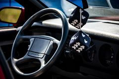 Расплывчатая кость в автомобиле стоковая фотография rf