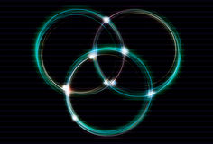 расплывчатое влияние блокируя светлые кольца бесплатная иллюстрация