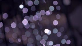 Расплывчатые света рождественской елки видеоматериал