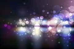 расплывчатый взгляд вектора ночи города Стоковая Фотография
