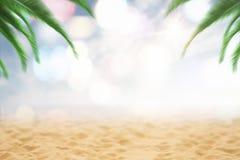 Расплывчатый фон праздника пляжа стоковое фото