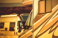 Располагаться лагерем жилых фургонов Стоковое Изображение