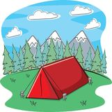 располагаться лагерем Стоковое Фото