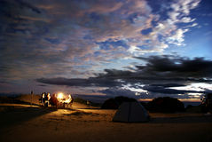 располагаться лагерем Стоковое Изображение