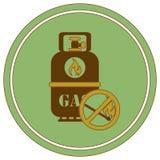 Располагаясь лагерем значок газового баллона Иллюстрация штока
