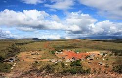 Располагаясь лагерем зона в sabana gran, Венесуэле Стоковое фото RF