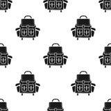 Располагаясь лагерем картина рюкзака Иллюстрация предпосылки простого силуэта безшовная рюкзака Обои вектора запаса для сети бесплатная иллюстрация