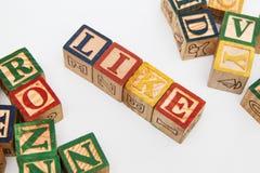 Расположение писем формирует одно слово, версию 41 Стоковые Изображения
