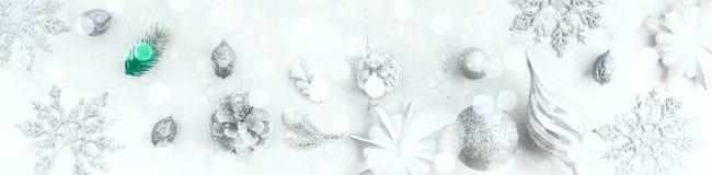 Расположение рождества знамени праздничное декоративных элементов Стоковое фото RF