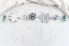 Расположение рождества праздничное декоративных элементов Стоковые Изображения RF