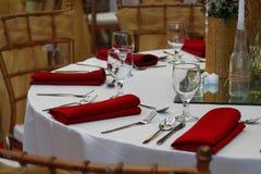 Расположение таблицы события свадьбы Стоковое Изображение