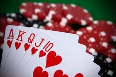 расположение чешет покер Стоковые Фотографии RF