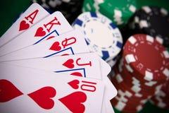 расположение чешет покер Стоковое Изображение RF
