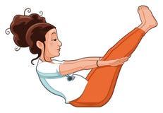 расположите йогу иллюстрация вектора