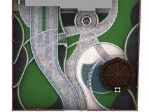 Расположите план развития изолированный над белой предпосылкой, renderi 3D Стоковые Фотографии RF