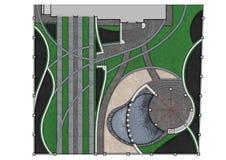 Расположите план развития изолированный над белой предпосылкой, renderi 3D Стоковая Фотография RF