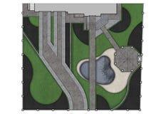 Расположите план развития изолированный над белой предпосылкой, renderi 3D Стоковая Фотография