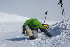 Располагаться лагерем во время зимы в прикарпатских горах Стоковая Фотография