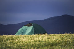 Располагаться лагерем в горах голубого Ridge Стоковые Изображения RF