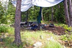 Располагаться лагерем в границе мочит зону каное Стоковые Фото
