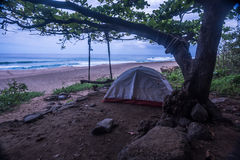 Располагаться лагерем в Кауаи Стоковое Изображение RF