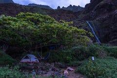 Располагаться лагерем в Кауаи Стоковая Фотография RF