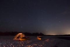 Располагаться лагерем в 10 тысяч островах Стоковые Фотографии RF