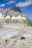 Располагаться лагерем в французских Альпах Стоковые Изображения