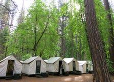 Располагаться лагерем деревни шатра карри Yosemite Стоковое фото RF