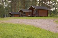 располагаться лагерем кабин Стоковая Фотография