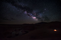 Располагаться лагерем под каньоном Ютой США отражения звезд Стоковые Фотографии RF