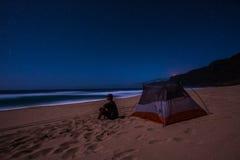 Располагаться лагерем пляжа Стоковая Фотография RF