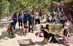 Располагаться лагерем Hikers Стоковое Изображение RF