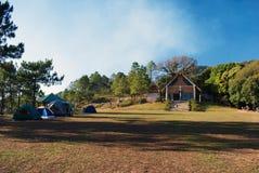 Располагаясь лагерем взгляд Стоковое Изображение