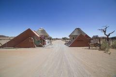 Располагаясь лагерем вход Sesriem, Намибия Стоковые Фотографии RF