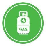 Располагаясь лагерем значок газового баллона Стоковая Фотография