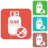 Располагаясь лагерем значок газового баллона Стоковое Изображение