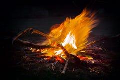 Располагаясь лагерем огонь Стоковое фото RF