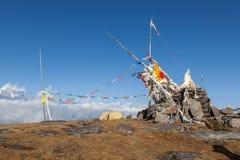 Располагаясь лагерем шатер на верхней части Pikey выступает Стоковые Фотографии RF