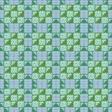 Расположение материала утиля хлопка для того чтобы сделать лоскутное одеяло Стоковое фото RF