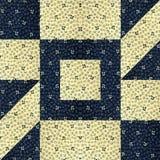 Расположение материала утиля хлопка для того чтобы сделать лоскутное одеяло Стоковые Изображения