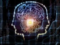 Эмерджентность искусственного интеллекта иллюстрация вектора