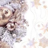 Расположение рождества на белой предпосылке, космосе экземпляра Стоковое Изображение