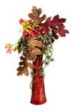 Расположение рождества шариков рождества, искусственных цветков Стоковые Фотографии RF