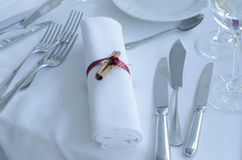 Расположение таблицы свадьбы Стоковые Фото