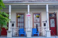 Расположенный на окраине города дом Нового Орлеана Стоковое Изображение RF