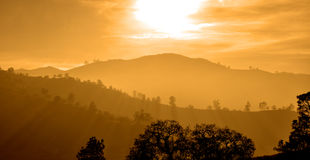 Заход солнца Калифорнии Стоковое Изображение