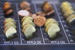 Распределитель монетки евро Стоковая Фотография RF