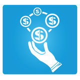 Распределение денег иллюстрация вектора