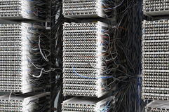 Распределение панели кабеля в радиосвязи стоковая фотография rf